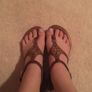 Tommy Hilfiger Brown Strap Sandals
